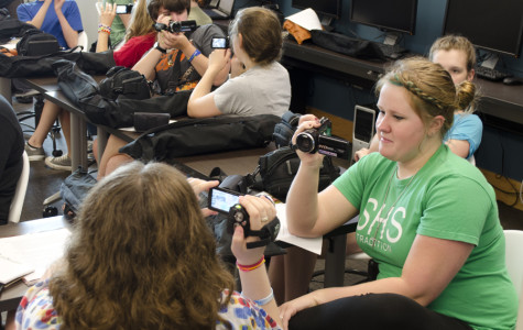 Workshop students get comfortable with cameras