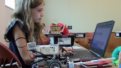 Young kids build robotic technology during summer camp