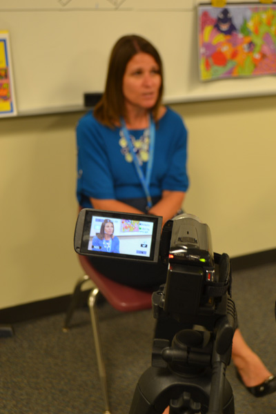 Michelle Easton, owner/director of the Young Rembrandts, is interviewed about her Cartooning Under the Sea class.