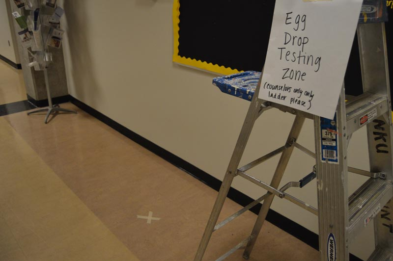 The Early Childhood Center Camps Egg Drop Testing Zone