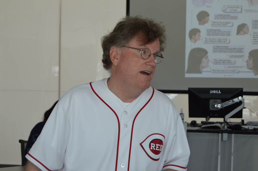 Dean Hume teaching the students