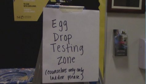 """Egg Drop Testing Zone"" Sign for the Early Childhood Center"