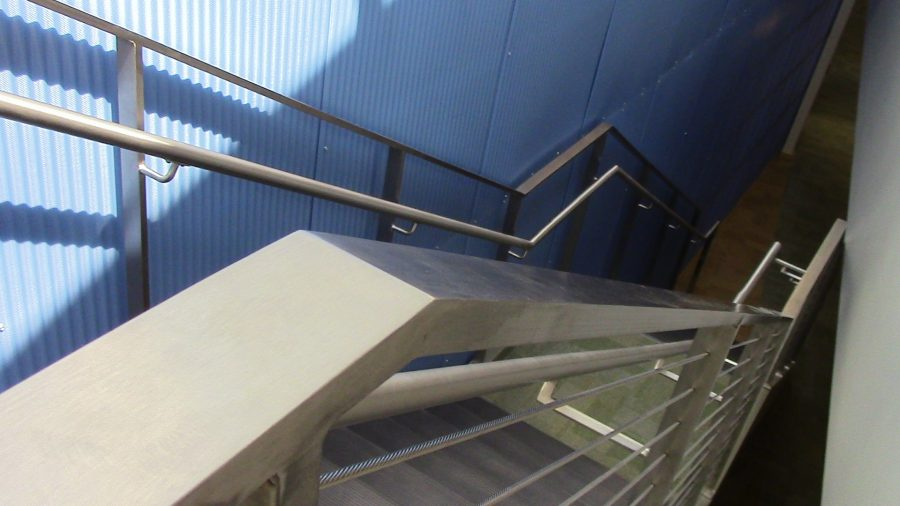 A Staircase leading down to the ground floor