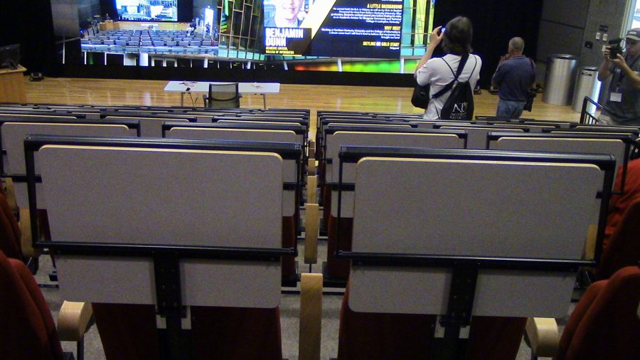 A view from halfway up the Digitorium seating