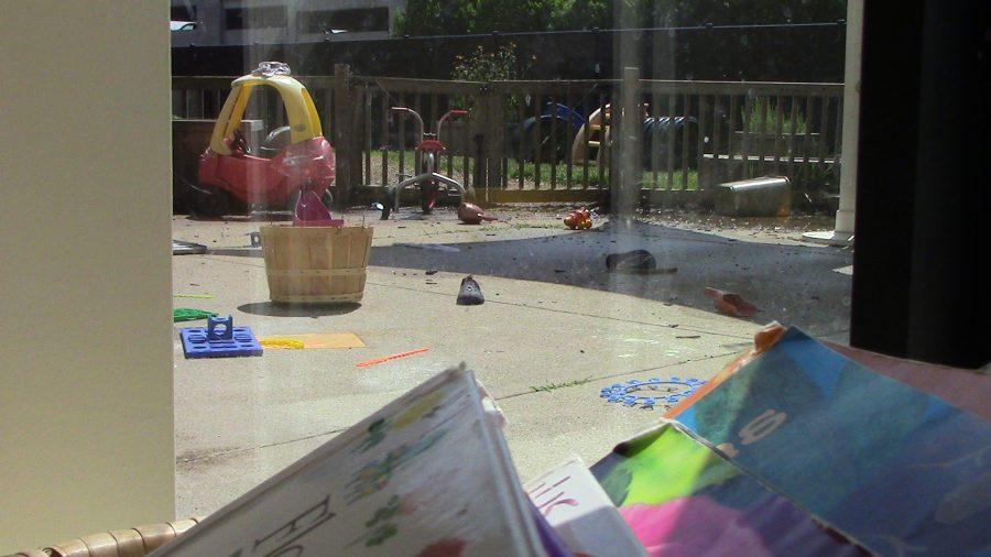 Early+Childhood+Center%27s+outside+play+area+has+many+activities.