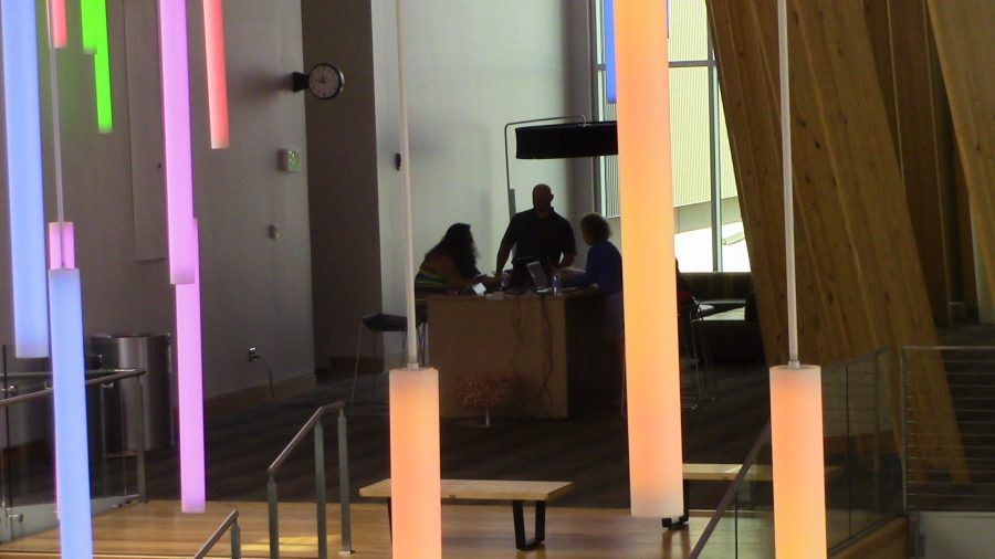 People working in Griffin Hall
