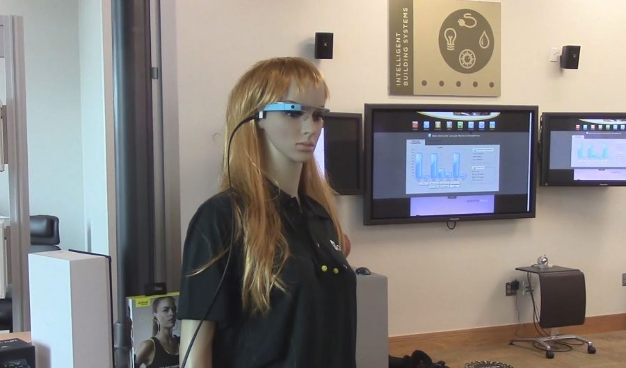 This mannequin was sporting some technology at the Center for Applied Informatics.