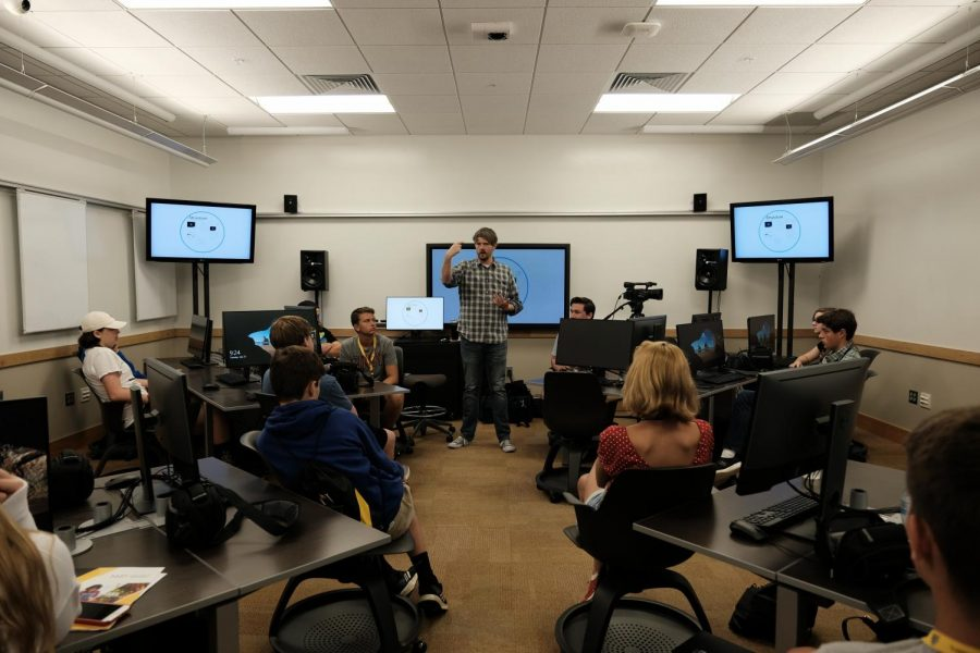 Academy Video Director John Gibson gives a presentation on the elements of media aesthetics.