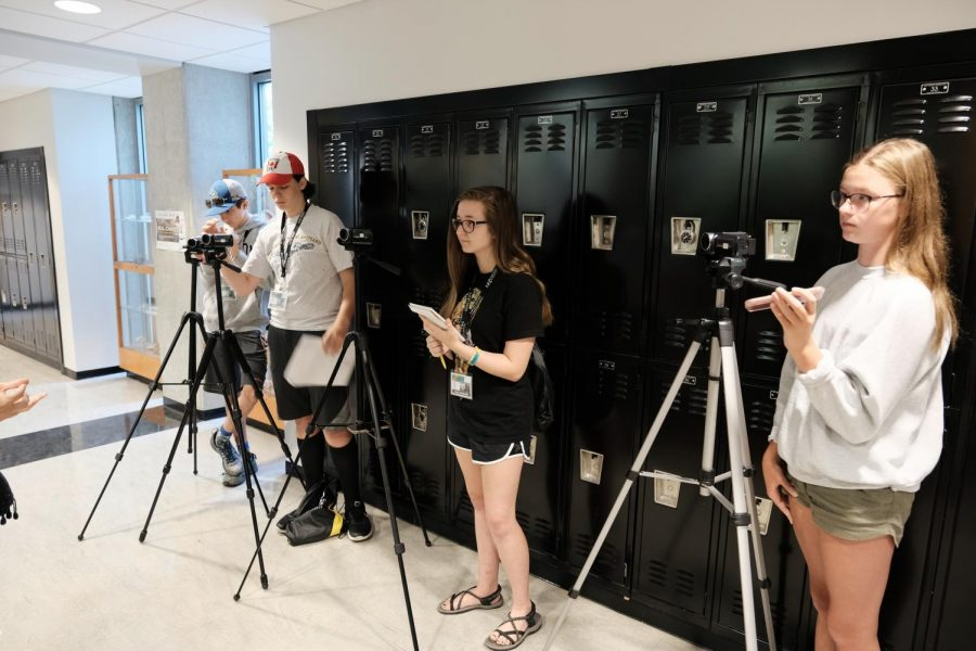 Charlie W., Noah C., Natalie R. and Zoey D. interview Dr. Whitson about NKUs herbarium.