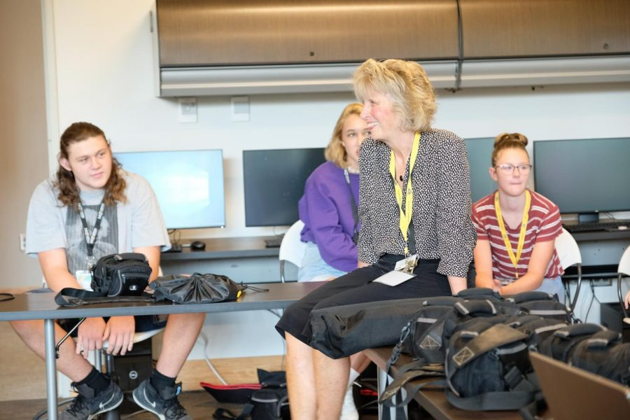 Academy Director Michele Day responds to questions from the students.
