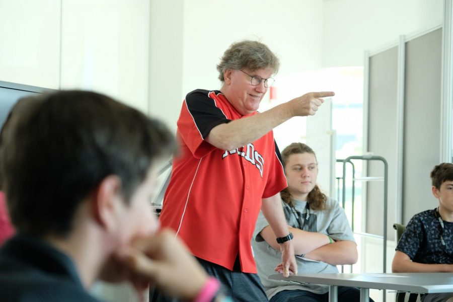 Media professional Dean Hume answers questions from the students.