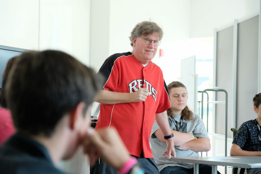 Media professional Dean Hume listens to questions from the students.